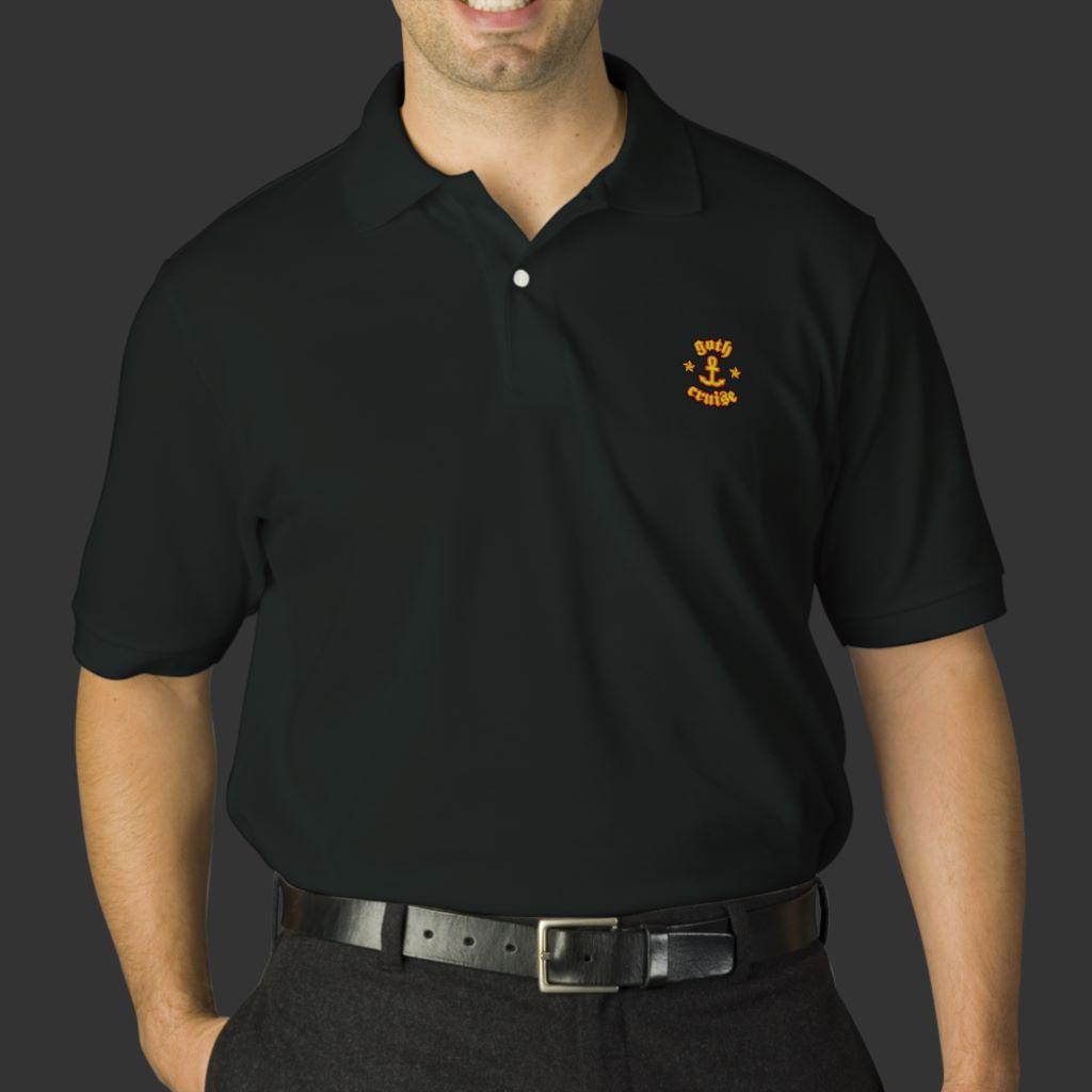 9df5b238 GothCruise Embroidered Logo Men's Polo Shirt | GothCruise